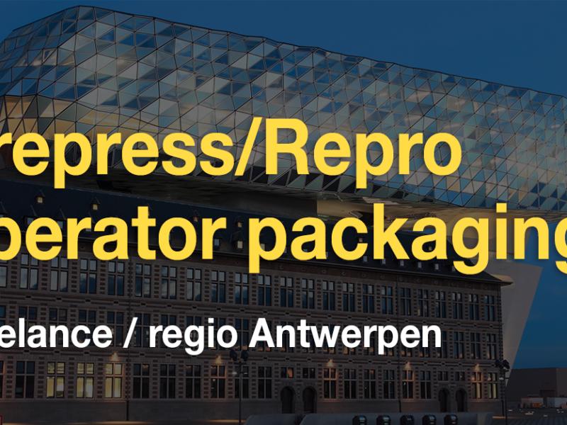 Vacature freelance Prepress/Repro operator verpakkingen (regio Antwerpen)