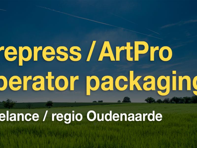 Vacature freelance prepress/ArtPro operator (regio Oudenaarde)