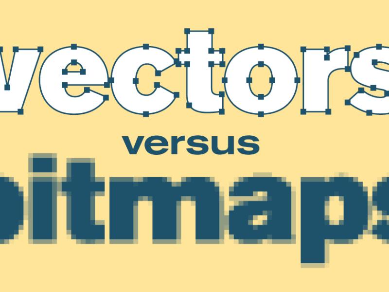 Het verschil tussen bitmaps en vectoren