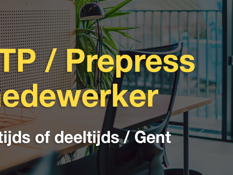 DTP'er / Prepress medewerker