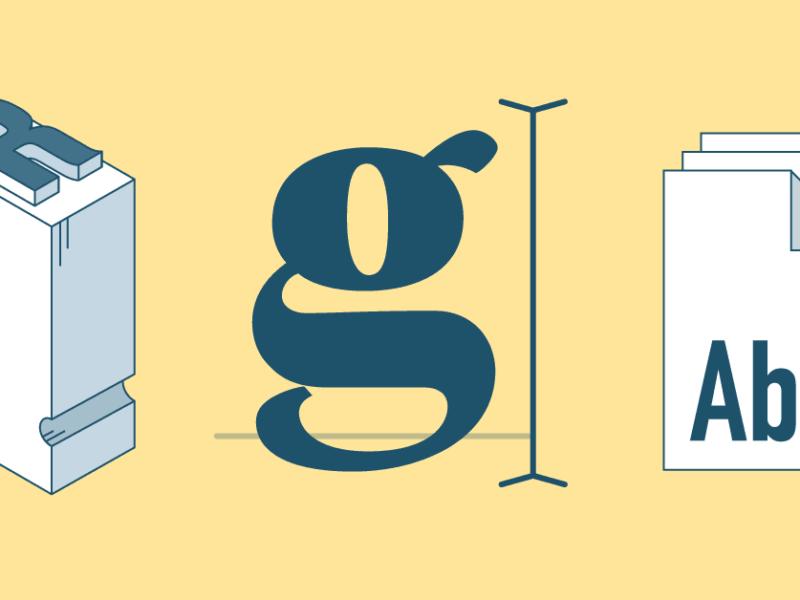 Fonts, van rotstekening tot drukwerk en scherm