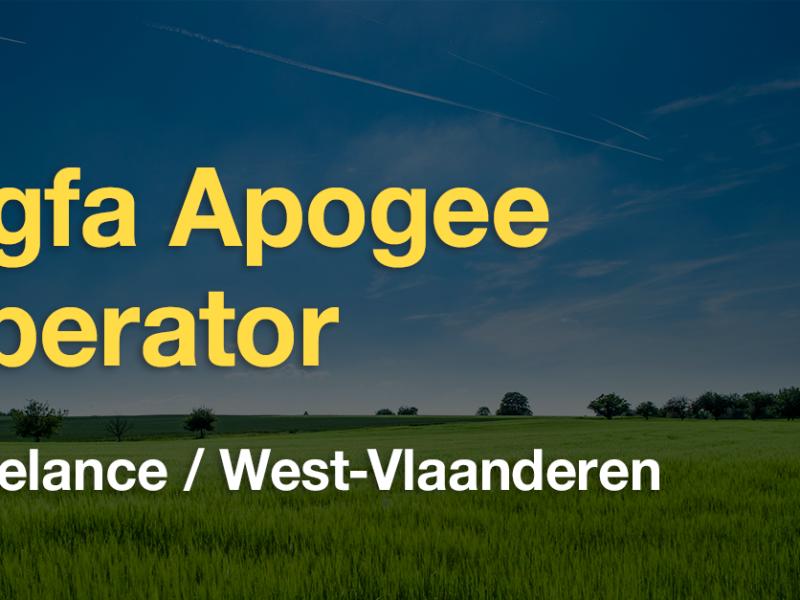 Vacature operator Agfa Apogee (West-Vlaanderen)